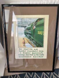 Vintage Railway Print