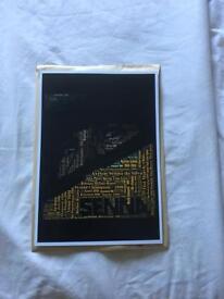 'SENNA' print