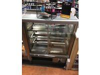 Norpe Saga-90-H-STS 0.9m Stainless Steel Bakery Heated Display