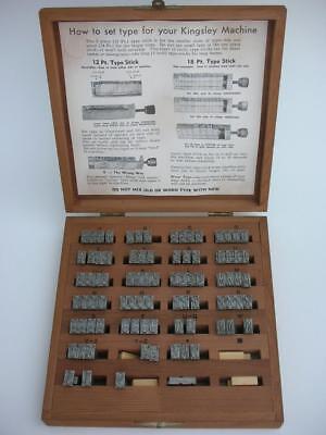 Kingsley Hot Foil Machine Stamping Type Letters Upper Case Script Font Box