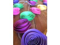 Paper garland flowers - decorations for wedding, birthday, summer party