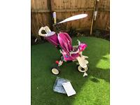 Smart trike pink and white pattern