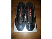 QUICK SALE/NO TIME WASTERS!! Black Authentic Prada Mens Americas Cup Fashion Sneakers Size 9