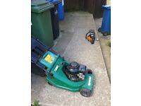 petrol lawn mower gualcast turbo 40