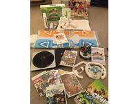 MASSIVE BUNDLE - Nintendo Wii Console + Wii Fit Board + MARIO KART + Dance Mat + 11 Games + More