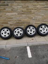 Vw alloys with tyres golf a3 passat etc
