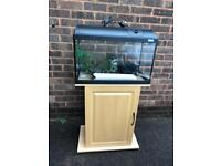 Fluval fish tank and cabinet