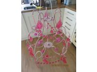 Pink Chandelier type lampshade