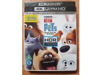 New & Sealed The Secret Life of Pets 4K UHD Blu-ray + Blu-ray + Digital Download