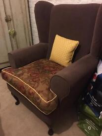 Brown Grandfather chair