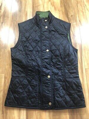 Barbour US 4 Womens Summer Liddesdale Gilet Vest UK 8 Quilted Black