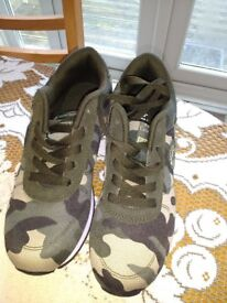 Brand new camouflage trainers