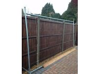 1 building site metal fence panel