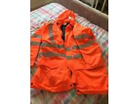 XL hi vis coat new