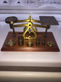 Letter scales with brass weights
