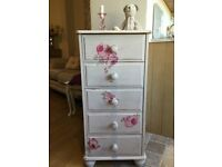 French Romance-Shabby Chic! Chest of drawers