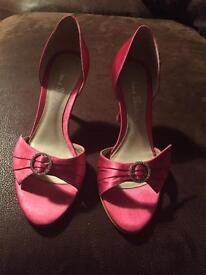 Pink jane shilton shoes size 4