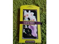 *Brand New Black Flower Ted Baker Samsung Galaxy S7 Edge phone case with Mirror inside*