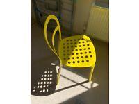 Ikea Metal Yellow Chair