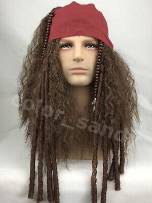 Cosplay Wig Pirates of the Caribbean Jack Sparrow Perücke Halloween Party