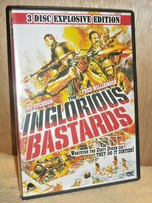 The Inglorious Bastards (DVD, 2008, 3-Disc Set, Special Edition) NEW Bo Svenson