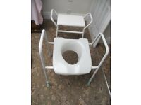 Adjustable Toilet Raiser and Shower Seat.