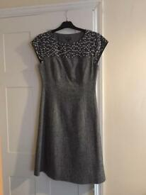 Phase Eight Smart Office Work Dress - Grey - Size 10