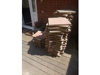 Red & White Patio Slabs