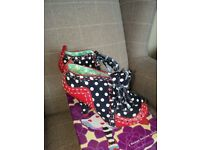 Irregular choice Abigails party polka shoes size 7 /Boots