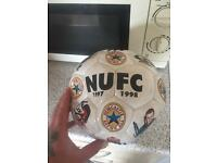 Signed nufc ball
