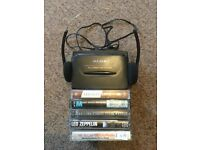 Alba Cassette Player Walkman with cassettes and original headphones