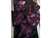 Cushions purple lilac x7, sparkly design home accessories lounge bedroom