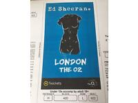 Ed Sheeran tickets x 2 @ 02 may 2nd