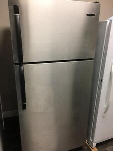 Frigidaire stainless steel top freezer glass shelves - can deliver