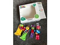 Lamaze food finder and hand rattle set