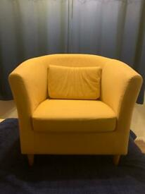 Yellow tub chair