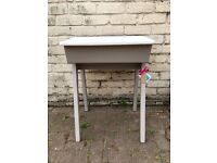 Hand painted traditional school desk