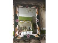 Stunning Tiffany style leaded mirror
