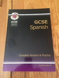 CGP GCSE Spanish Complete Revision & Practice Includes Audio CD HARDLY USED £9