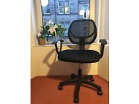 Black Swivel Desk Chair (Gas Lift and Fabric Mesh)