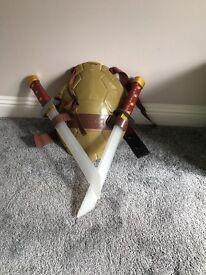Ninja Turtles shell and two swords