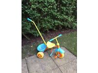 Toddler trike/ bike/ bicycle with handle