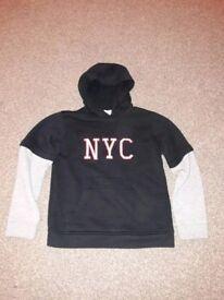 Never been worn NYC hoodie/hoody age 9-10