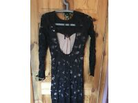 Lace embroidered dress size 10 new, never used with label