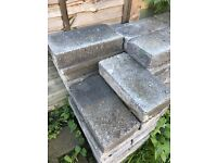 Free solid cement blocks for collection