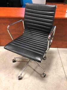 Leather Boardroom Chairs with Chrome Frame - $150.00