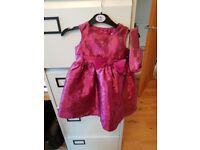 9-12mths Burgundy Dress with matching bag