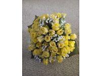 Beautiful artificial yellow rose bouquet