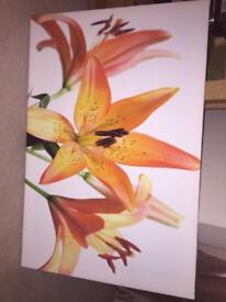 Flower printed large canvas