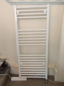 New white flat towel radiator